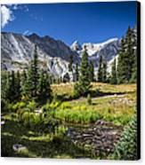 Lake Isbelle Mountains Canvas Print