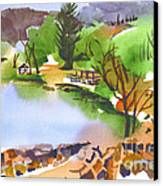 Lake Killarney With Rock Wall Canvas Print
