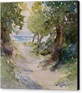Lake Michigan Beach Path Canvas Print