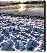 Lake Mjosa Sunset Canvas Print by Chris Shirley