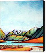 Lake Pearson 1999 Si Nz Canvas Print by Barbara Stirrup