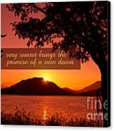 Lake Sunset With Promise Of A New Dawn Canvas Print
