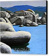 Lake Tahoe Rocky Cove Canvas Print by Frank Wilson