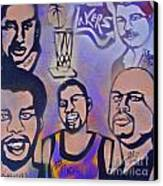 Lakers Love Jerry Buss 1 Canvas Print by Tony B Conscious
