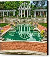Lakeside Park Wedding Pavilion II Canvas Print by Gene Sherrill