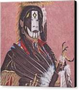 Lakota Indian Spirit Ceremonial Dress Canvas Print by Billie Bowles