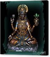 Lakshmi Hindu Goddess Canvas Print by Eva Thomas