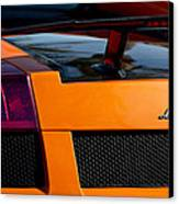 Lamborghini Rear View 2 Canvas Print by Jill Reger