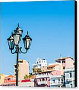 Lamp In Agios Nikolaos Canvas Print