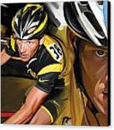 Lance Armstrong Artwork Canvas Print by Sheraz A