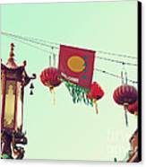 Lanterns Over Chinatown Canvas Print by Cindy Garber Iverson