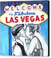 Las Vegas Wedding Canvas Print by Gary Niles