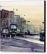 Last Light - College Ave. Canvas Print by Ryan Radke