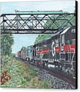 Last Train Under The Bridge Canvas Print by Cliff Wilson