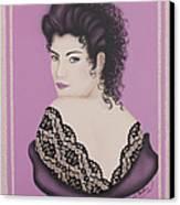 Latin Lace Canvas Print by Nickie Bradley