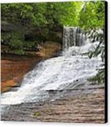 Laughing Whitefish Waterfall Canvas Print by Terri Gostola