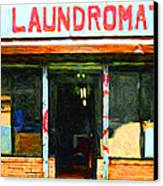 Laundromat 20130731pop Canvas Print by Wingsdomain Art and Photography
