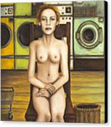 Laundry Day 5 Canvas Print by Leah Saulnier The Painting Maniac