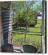Laura Plantation Slaves Porch Canvas Print