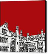 Laurel Hall In Red -portrait- Canvas Print