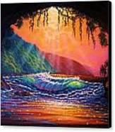 Lava Tube Fantasy 1 Canvas Print by Joseph   Ruff