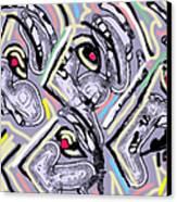 Lavender Profiles 2 Canvas Print by Anita Dale Livaditis