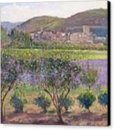 Lavender Seen Through Quince Trees Canvas Print by Timothy  Easton