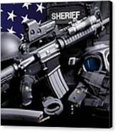 Law Enforcement Tactical Sheriff Canvas Print by Gary Yost