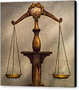 Lawyer - Scale - Fair And Just Canvas Print by Mike Savad