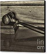 Lawyer - The Gavel Canvas Print by Paul Ward