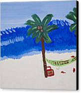 Lazy Beach Canvas Print by Melissa Dawn