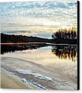 Lazy Winter River Canvas Print by Michelle and John Ressler