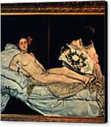 Le Grande Odalisque By Ingre Canvas Print by Carl Purcell