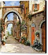 Le Porte Rosse Sulla Strada Canvas Print