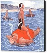Le Sourire 1930s France Holidays Canvas Print