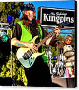 Lead Guitarist Jimmy Dence - The Fabulous Kingpins Canvas Print by David Patterson