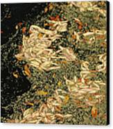 Leaf Abstract Ode To Klimt Canvas Print