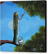Leaf Fairy By Shawna Erback Canvas Print by Shawna Erback