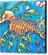 Leafy Sea Dragon Canvas Print by Tamara Blyth