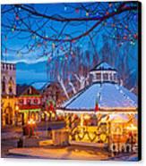 Leavenworth Gazebo Canvas Print by Inge Johnsson