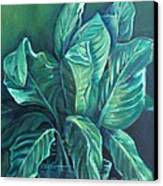 Leaves In A Vase Canvas Print by Ellen Howell