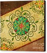 Leaves Rosette 1 Canvas Print
