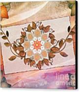 Leaves Rosette 2 Canvas Print by Bedros Awak