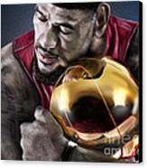 Lebron James - My Way Canvas Print by Reggie Duffie