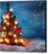 Led Christmas Lights Canvas Print