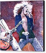 Led Zeppelin Jimmi Page And Robert Plant  Canvas Print by Yuriy  Shevchuk