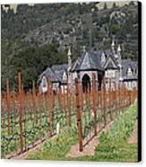 Ledson Winery And Vineyard In Late Winter Just Before The Bloom 5d22192 Canvas Print by Wingsdomain Art and Photography