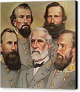 Lee And His Valiant Men Canvas Print by Janet McGrath