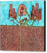 Leg Jam Canvas Print by Richard Hockett