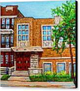 Legare And Hutchison Synagogue Montreal Canvas Print